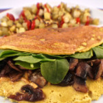 Veganská omeleta z tofu