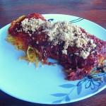 Špagetová dýně s omáčkou z pečených rajčat